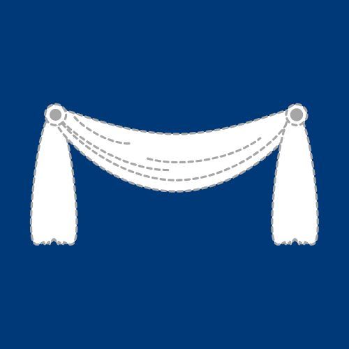 Icon for fabric window treatments