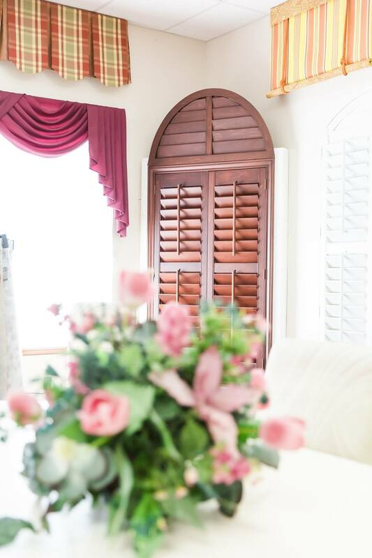Picture of wood plantation shutters at Custom Discount Blinds